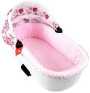 BABYLUX Spannbettlaken für Kinderwagen Spannbetttuch Bettlaken 3. Minky - Rosa