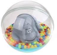 wasserball mit Nilpferd 12 cm transparent