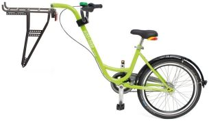 Diverse Unisex – Erwachsene Trailer add + bike-3091803100 Bike, Grün, One Size