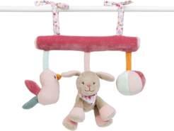 Nattou Spielzeug zum Aufhängen, Iris und Lali, 34 x 20 x 6cm, Rosa