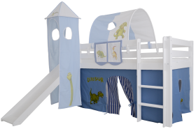Mobi Furniture 3tlg. Vorhang Set Dinosaurier für Hochbett