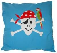Taftan 'Pirat' Kissenbezug blau