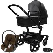 Joolz 'Day+' Kombikinderwagen Brilliant Black inkl. Cybex Cloud Z Plus Babyschale Khaki Green