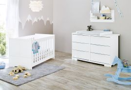 Pinolino 'Polar' 2-tlg. Babyzimmer-Set weiß, breit