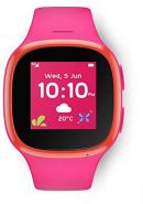 Vodafone 'V-Kids Band' Kinder-Smartwatch, inkl. Armbanduhr für Kinder, SIM-Slot und GPS, SOS-Taste, Wasserdicht gemäß IP67, Empfang von Sprachnachrichten, Ortungsmöglichkeit, pink