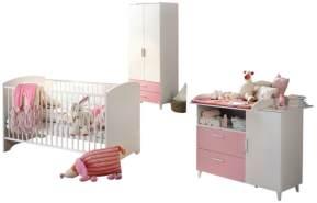 Babyzimmer 'Elisa 2' 4-tlg. Babyzimmerset rosa weiß