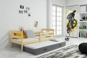 Stylefy Kera mit Extrabett Funktionsbett 80x190 cm Eiche Graphit