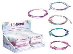 Armband mit Beads, 3-reihig, sortiert