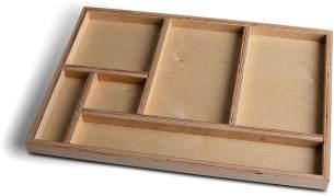 tiSsi Schubkasteneinlage Holz für Schreibtische 'Jonas' und 'Paul'
