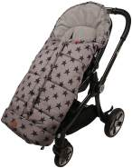 Kinderwagen Fußsack Star Print Outside, grey, universell einsetzbar