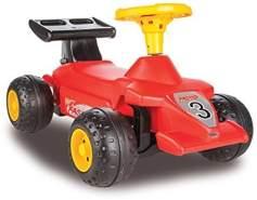 Jamara 460274 - Rutscher Formula Kid Rot - Stabil und Robust, Haltegriffe im Heckflügel, Kippschutz, ansprechendes Design in Rot oder Hellblau, Hupe