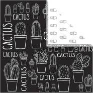 Design-Papier, Blatt 30,5x30,5 cm, 180 g, , Kaktus, 5Bl.