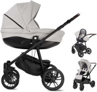 Minigo Flow | 3 in 1 Kombi Kinderwagen | Luftreifen | Farbe: Light Grey