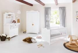 Pinolino 'Florentina' 3-tlg. Babyzimmer-Set weiß, inkl. Regalaufsatz