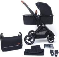 Pixini 'Lania' Kombikinderwagen 2in1 Black Edition inkl. Babywanne