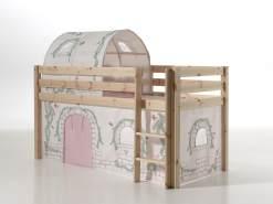 Vipack 'Pino' Spielbett natur mit Vorhang und Tunnel 'Birdy'
