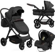 Baninni 3-in-1 Kinderwagen/Babyschale Ayo Notte Schwarz