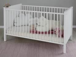 Babybett 'Ole' inkl. Umbauseiten 70 x 140 cm Liegefläche weiß