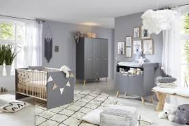 Trendteam 'Mats' 3-tlg. Babyzimmer-Set grau