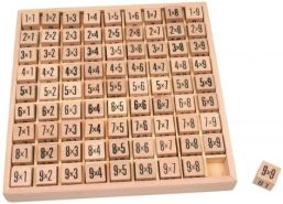 Multiplikation Rechenspiel aus Holz