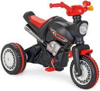 Pilsan Dreirad Cobra 07323 Motorrad-Design, Tröte am Lenker, Pedale, ab 3 Jahre, Farbe:schwarz