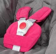 ByBoom® - Gurtpolster Set - universal für Babyschale, Buggy, Kinderwagen, Autositz (z.B. Maxi Cosi City SPS, Cabrio, Cybex Aton usw.); In vielen Farben; MADE IN EU, Farbe:Fuchsia
