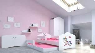 Angelbeds 'Fala' Kinderbett 80x160 cm, Motiv E2, inkl. Flex-Lattenrost, Schaummatratze und Schubbett
