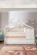Cilek 'Romantic' Babybett inkl. Zubehör und Schublade, weiß