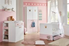 Stylefy Emilie I Kinderzimmer-Set Weiß Pastellrosa