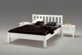'Ben' Jugendbett aus massiver Buche, weiß, 180x200 cm
