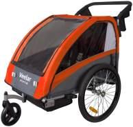 Tiggo Kinderwagen-Fahrradanhänger 2in1 Orange