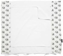 Alvi Wickelauflage + Bezug Elephants white 70x85 cm 705-0