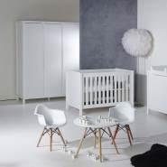 Quax 'Stripes' 3-tlg. Babyzimmer-Set White 70 x 140 cm 3-Türig
