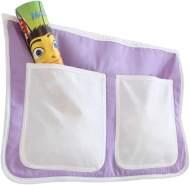 Ticaa Bett-Tasche für Hoch- und Etagenbetten - lila-weiß
