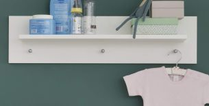 trendteam smart living Babyzimmer, Wandboard, Wandgardrobe Olivia, 75 x 20 x 15 cm in Weiß