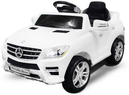 Kidcars 'Mercedes ML350' Lizenz Elektro Kinderauto, 6V, 1x 25W Motor, RC, weiß