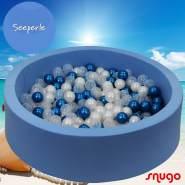Bio Premium Bällebad SEEPERLE in hellblau mit 300 Bällen aus Zuckerrohr