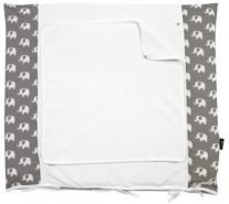 Alvi - Wickelauflage+Bezug Set Special Edition Elephants grey 70x85cm