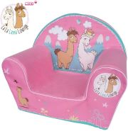 Knorrtoys 'LaLaLama Lounge' Kindersessel Nici pink