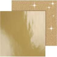 Design Papier, Blatt 30,5x30,5 cm, 120128 g, Gold, 2Bl.,
