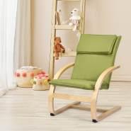 COSTWAY Kindersessel Birke Kinder Schwingsessel Schaukelstuhl Schaukelsessel  Kinderstuhl Holz Relaxsessel Kindermoebel belastbar bis 120kg