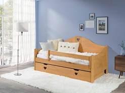 KAGU 'Candy' Kinderbett natur 80x160 cm inkl. Matratze und Bettkasten