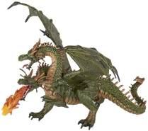 Papo 36019 Dragon Deux têtes Zweiköpfiger Drache, Spiel, Mehrfarbig