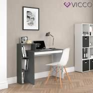 Vicco 'Leo' Schreibtisch, Weiß/Anthrazit