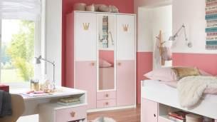 Wimex Kleiderschrank 'CINDY 2' Spiegel Schrank 139 cm, weiß rosé