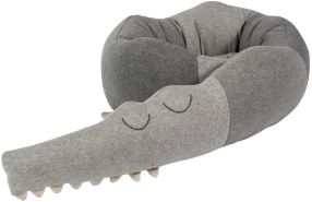 Sebra 'Sleepy Croc' Nestchenschlange gestrickt grau