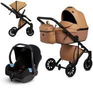 Anex 'e/type' Kombikinderwagen 4plusin1 2020 in Caramel, inkl. Babywanne, Sportsitz, Babyschale