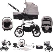 Bebebi Paris - 3 in 1 Kinderwagen Komplettset Concord Roues gonflables
