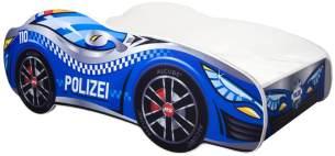 Alcube 'Polizei' Autobett 160 x 80 cm inkl. Lattenrost und Matratze, blau