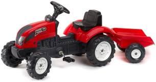 Falk 2058J - Tret-Traktor mit Hänger, rot